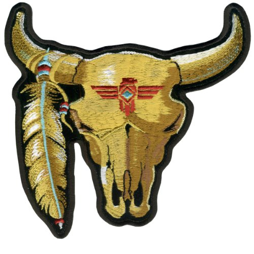Hot Leathers Cattle Skull Patch (3