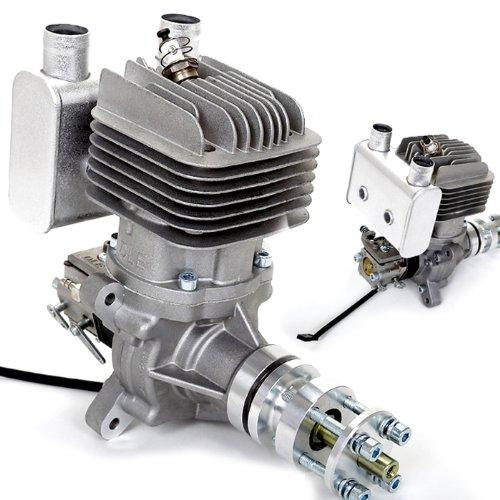 AGM-DLE-55-RA-55cc-Benzinmotor-Gasmotor-Gas-Petrol-Engine-Verbrennungsmotor-Auspuff-fr-RC-Flugzeug-Modell