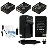 3-Pack NP-W126 High-Capacity Replacement Batteries With Rapid Travel Charger For Select Fuji Digital Cameras. UltraPro Bundle Includes: Camera Cleaning Kit LCD Screen Protectors Mini Travel Tripod