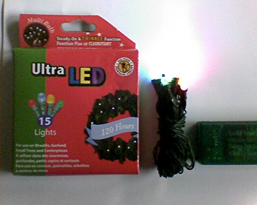 Product Works Ultra LED Multi-Color Holiday String Lights For Wreaths (Product Works Ultra Led 15 Lights compare prices)