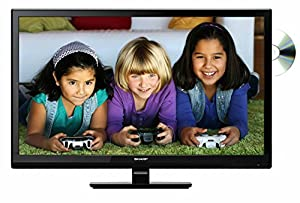 Sharp LC-24DHE4011K 24-Inch HD TV with Freeview and DVD Player - Black