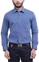 Hoffmen Men's Striped Cotton Formal Shirt