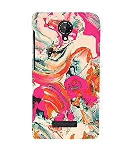 Colorful Abstract 3D Hard Polycarbonate Designer Back Case Cover for Micromax Canvas Spark Q380