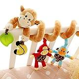 超かわいい ベビーベッドハンギング 人形 ベビーキッズ 装飾おもちゃ 猿 カラフル 音 モンキー ぬいぐるみ プレゼント 出産祝い 誕生日 プレゼント