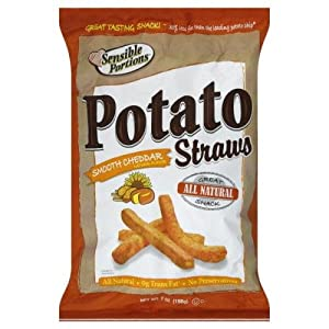 Sensible Portions Potato Straws Smooth Cheddar 7 oz. (Pack of 12)