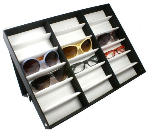 Eyeglasses Case Display Storage Box Holds 18