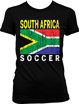 South Africa Soccer, South African Flag Juniors T-shirt, NOFO Clothing Co.