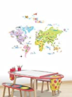Ambiance Sticker Vinilo Decorativo World Map For Children