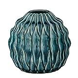 Stout Teal Ceramic Vase