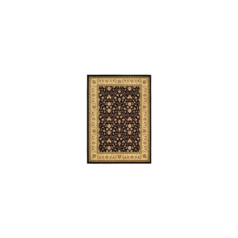 Safavieh Lyndhurst Collection LNH316B Black and Ivory Area Rug, 9 Feet by 12 Feet