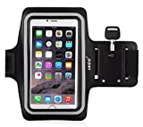iXCC Racer Series Dual Arm-Size Slots Sporty Gym Armband for iPhone 6splus, 6plus,6s,6,5s, 5,5c and iPod, MP3 Player - Black
