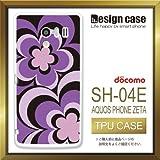 SH-04Eケース SH-04Eカバー SH-04E専用ケース TPUケース/AQUOS PHONE EX SH-04E /1350_フラワーパープル(花_カワイイ)