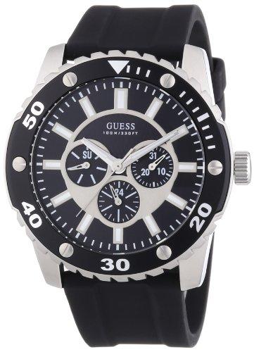 75fd7413116a Guess W10616G1 - Reloj cronógrafo de cuarzo para hombre con correa de  silicona