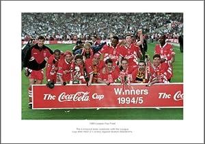 Liverpool Fc Photo - 1995 League Cup Final Team Picture Memorabilia