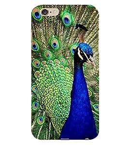 Fiobs Pecock Feather Krishna Bird Phone Back Case Cover for Apple iPhone 6 Plus
