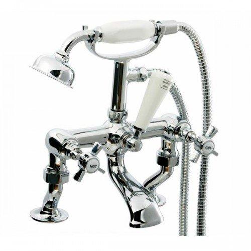 Beaumont Bath Shower Mixer Tap, Cranked Legs