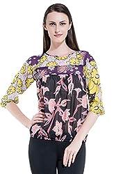Kazo Women's Body Blouse Shirt (107404MULTICL)