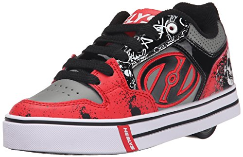 HeelysMotion Plus (770533) - Scarpe da Ginnastica Basse Bambino, (Red/Black/Grey/Skulls (Red/Black/Grey/Skulls)), 38