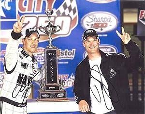 Dale Earnhardt Jr. Signed Photograph - JR & BRAD KESELOWSKI TROPHY 11X14 COA -... by Sports Memorabilia