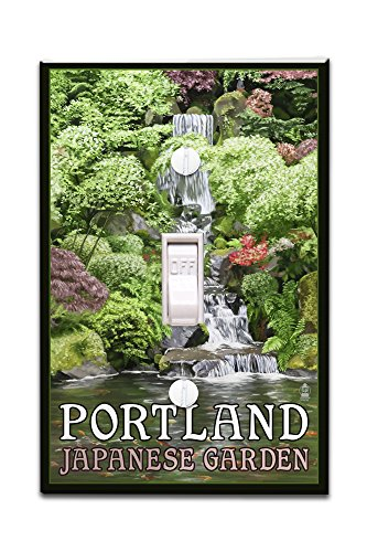 Portland Japanese Garden Koi Pond And Falls Light Switchplate Cover