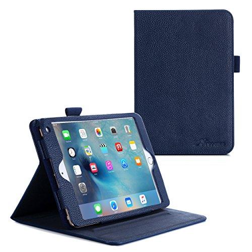 iPad Mini 4 Case, roocase Dual View Pro iPad Mini 4 Multi-Viewing Stand Folio Case Smart Cover for Apple iPad Mini 3 (2015), Navy (Mini Dv Case compare prices)