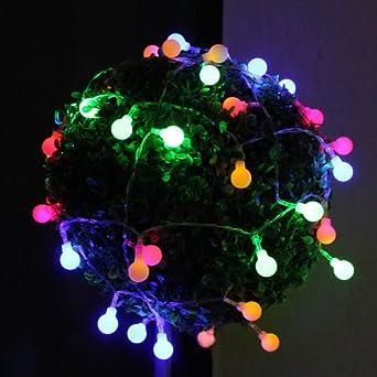innoo tech bunt led lichterkette gl hbirne strom f r paty deko in innen mit hinterstecker 10. Black Bedroom Furniture Sets. Home Design Ideas