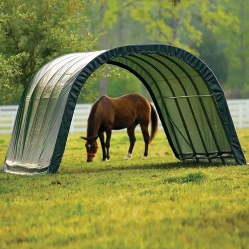 ShelterLogic 12 x 20 x 8- Feet Round Style Run-In