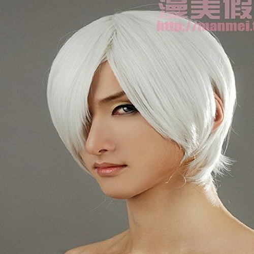 Xcoser DMC Cosplay Dante Short Sliver White Cosplay Wig for Halloween (Devil May Cry Dante Cosplay compare prices)