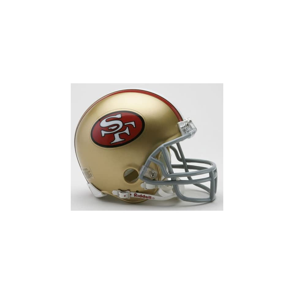 San Francisco 49ers Miniature Replica NFL Throwback Helmet w/Z2B Mask