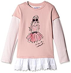 Nauti Nati Baby Girls T-Shirt (NAW14-302_Peach_0-6m)