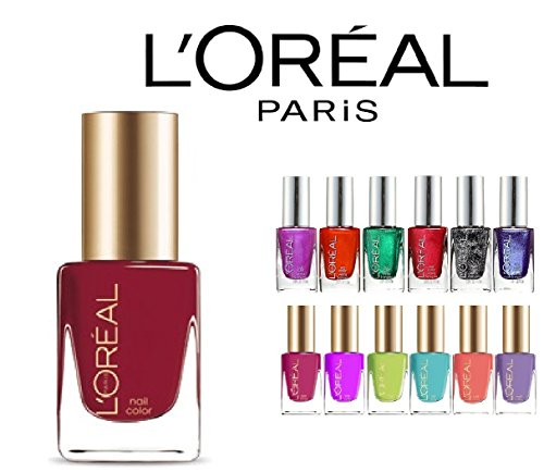 Loreal-Finger-Nail-Polish-Color-Lacquer-Set-10-Piece-All-Different-Colors-No-Repeats