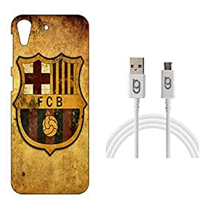 Designer Hard Back Case for HTC Desire 626G Plus with 1.5m Micro USB Cable
