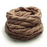 (トライバル)TRIBAL 品良く巻ける 大人カジュアルなスヌード ケーブル編みシンプルニットスヌード