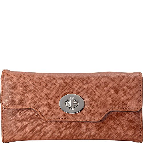rebecca-rifka-saffiano-faux-leather-turn-lock-wallet-tan