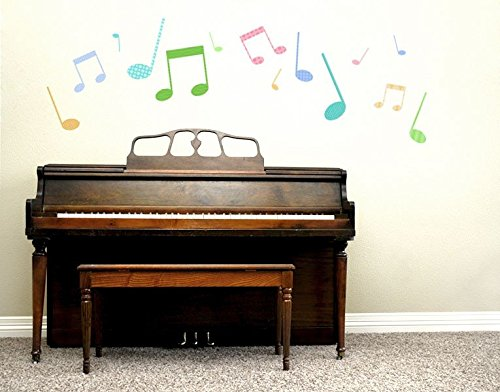 wandsticker muster bunte noten b x h 50cm x 23cm erh ltlich in 9 gr en. Black Bedroom Furniture Sets. Home Design Ideas