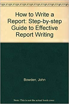 what are the steps in writing a book report