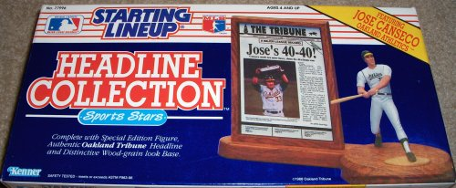 Starting Lineup (Line Up) 1991 Headline Collection Jose Canseco Oakland A's F...