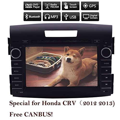 2 Din Android 4.4 In Dash Car Stereo GPS navigation DVD Player Mirror-Link 7 inch Quad Core Bluetooth AM/FM for Honda CRV (2012 2013) (Honda Crv 2012 Stereo compare prices)