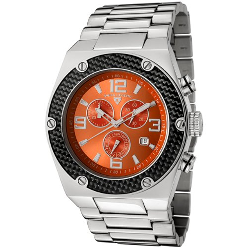 Swiss Legend Men's 40025-66 Throttle Chronograph Stainless Steel Watch