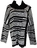 Calvin Klein Womens Wrap Black White Sweater