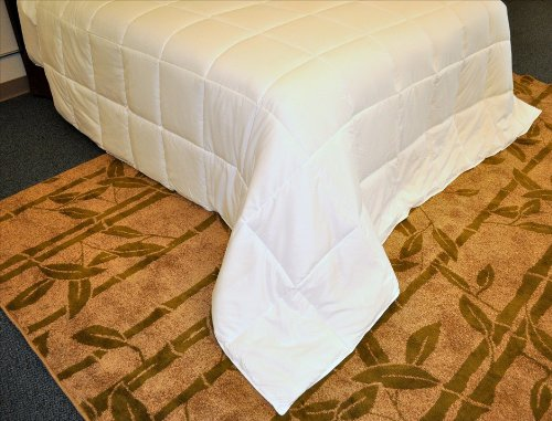 Natural Comfort White Down Alternative Comforter With Embossed Microfiber Cover, Light Weight Filled, Full front-760493