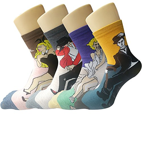 Womens Famous Painting Crew Socks