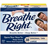 Breathe Right Nasal Strips, Large, Tan, 38-Count Boxes (Pack of 2) ~ Breathe Right