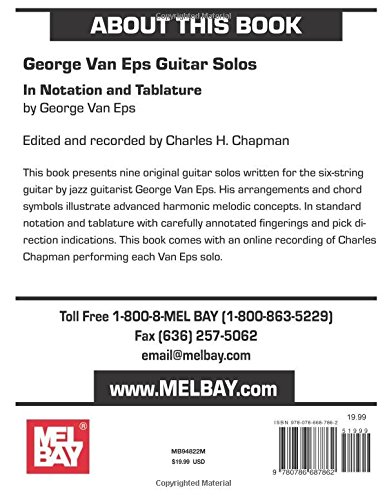 George Van Eps Guitar Solos: In Notation and Tablature with Online Audio