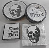 Halloween Do You Dare Dinner & Dessert Paper Plates with Napkins