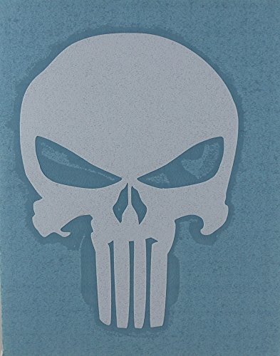 CandD Visionary Punisher Skull 4 Rub-On White