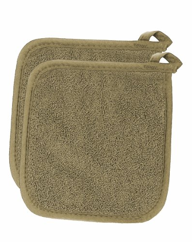 Ritz Royale Collection Pot Holder Set, Mocha, 2-Piece