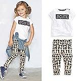 Nice Days(ナイス ディズ) 夏女の子服 半袖Tシャツ+パンツ 上下セット (100) ランキングお取り寄せ