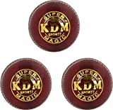KDM Magic Leather Ball, Pack of 3 (Red)