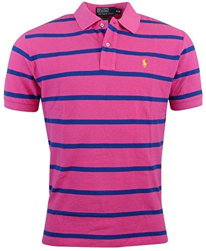 Polo Ralph Lauren Mens Classic Fit Striped Polo Shirt - Xxl - Pink/Blue